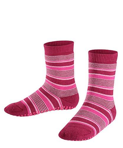 FALKE Unisex Kinder Mixedstripe Cp Socken Stoppersocken, Rot (Red Plum 8236), 23-26
