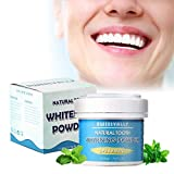 50g Spearmint Teeth Whitening Powder, Effective Remover Tooth Stains for a Healthier Whiter Smile
