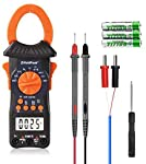 Holdpeak Digital Clamp Meter Multimeter HP-6205 Amp Meter Auto Ranging 6000 Counts TRMS Clamp Meter for AC&DC Current Amperage Voltage Resistance Capacitance Temp Tester with Backlight