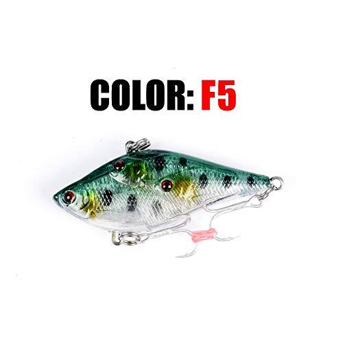 L-MEIQUN, Rattlin hundimiento de la vibración de Pesca señuelos 60mm 14,5 g cebos Duros Artificiales VIB Verano o Invierno Ice atraer a la Pesca Bass Pike (Color : F5)