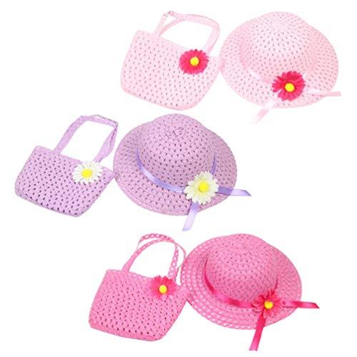 jojofuny 3 Stück Süße Sonnenhut & Tasche für Kinder Sonnenblume Bowknot Kappe Und Taschen Kleid Partyzubehör/Geburtstag Ostergeschenke