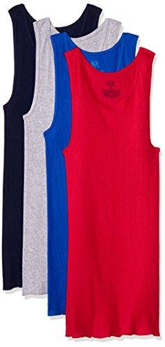 Fruit of the Loom 4P261CM Camiseta de Tirantes para Hombre, Multicolor, S (paquete de 4), (Colores pueden variar)