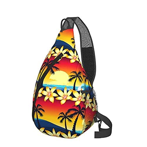 Bandolera bandolera para playa, palmeras de sol, ligera, impermeable, bolsa de hombro, unisex, para viajes, senderismo, mochila pequeña, para mujeres, hombres, regalos