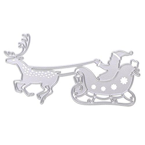 Ultnice metal stencil modello di Natale Babbo Natale renna da taglio scrapbook fai da te artigianale strumento