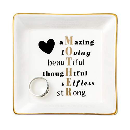 Gifts for Mom Ceramic Ring Jewelry Dish Mother's Day Birthday...