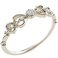 リボンリング シルバーリング ダイヤモンド ダイヤ ピンキーリング 指輪 重ね付け アンティーク 透かし リング レディース 15