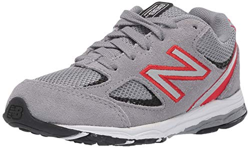 New Balance Kid's 888 V2 Lace-Up Running Shoe, Steel, 2 W US Infant