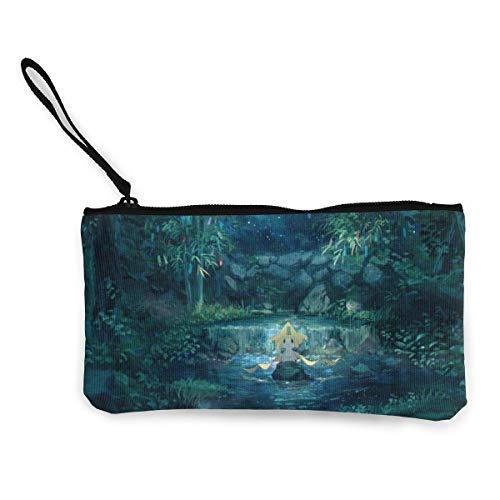 Jir-ac-hi portamonete in tela con cerniera stampa piccolo portamonete per donna borsa cosmetica multifunzione portamonete portatile