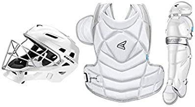 EASTON THE FUNDAMENTAL BY JEN SCHRO Female Catchers Protective Box Set   Large   White   2020   Helmet & Steel Cage   Chest Protector - Breathable & Lightweight   Leg Guards - Extra Inner Knee Foam