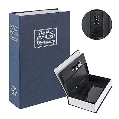 caja fuerte Libro con cerradura caja de seguridad oculta secreta con llave de acero con p/áginas aut/énticas 22/X 15/X 4,5/cm.