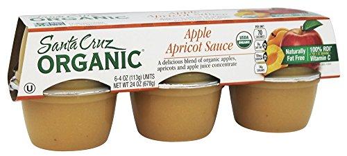 Santa Cruz Organic - Organic Apple Sauce Cups Apricot - 24 oz