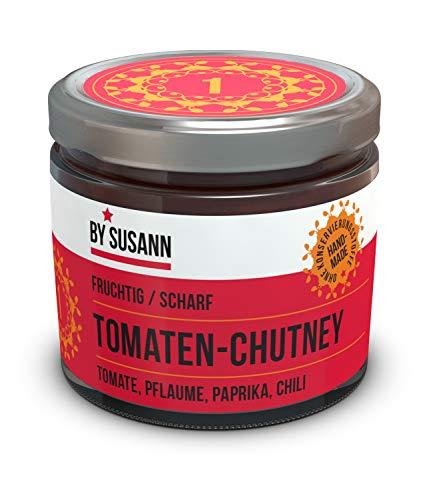 BY SUSANN - 01 TOMATEN-CHUTNEY im Glas (1 x 150 g), Geschmackserlebnisse mit intensiven und natürlichen Aromen, fruchtig, scharf