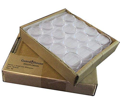 Guardhouse Small Dollar 26mm Direct Fit Coin Capsules, 50 pack