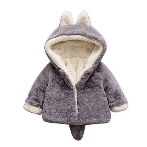 Giacche Bambino Invernali Coniglio Cappuccio,Homebaby Giacca del Mantello del Cappotto di Inverno della Neonata Giubbotto Vestiti Caldi Spessi Felpa Maniche Lunghe Caldo Capispalla