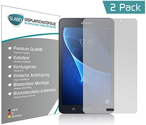 Slabo 2 x Bildschirmschutzfolie kompatibel mit Samsung Galaxy Tab A SM T280 (2016) 7