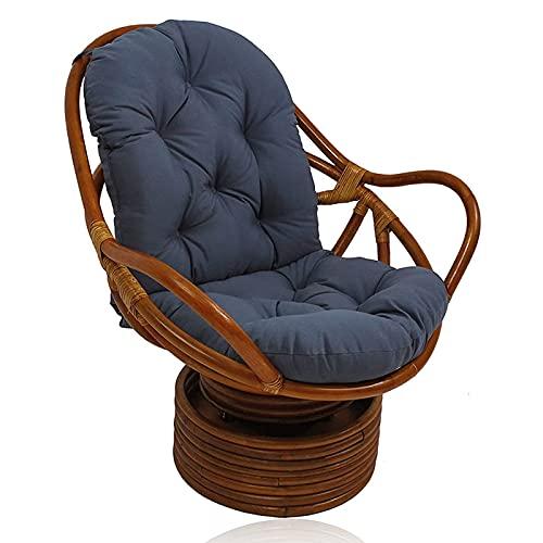 Cojín de repuesto para silla Egg, cojín Papasan, cojín Papasan para exterior, cojín giratorio para silla mecedora, cojín para sillón de ratán para interior, muebles para el hogar, alfombrilla para el