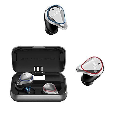 Drahtloser Ohrhörer,Mifo O5 Bluetooth 5.0 IPX7 Wasserdichter 3D-Stereo-Noise Cancelling-Kopfhörer mit 100-Stunden-Wiedergabezeit und HiFi-Sound und 2600-mAH-Ladekoffer Sport mit Siri Google Assistant