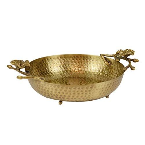 Plateau de bijoux, plateau de rangement en laiton pour table basse, ornements de porche de panier de rangement de téléphone de clé de bijoux, pièce maîtresse pour table de salle à manger ( Color : C )
