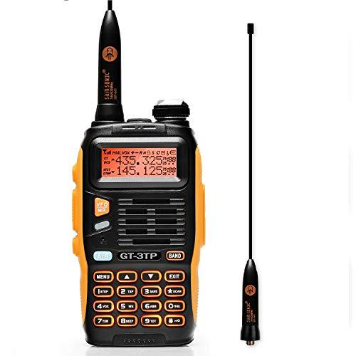 BAOFENG GT-3TP Mark III 8W 2m/70cm Uhf/Vhf Dualband Handfunkgerät Pmr Walkie Talkie mit Headset