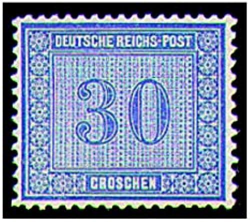 Goldhahn Deutsches Reich Nr. 13 ungestempelt Freimarke-30 Groschen Briefmarken für Sammler