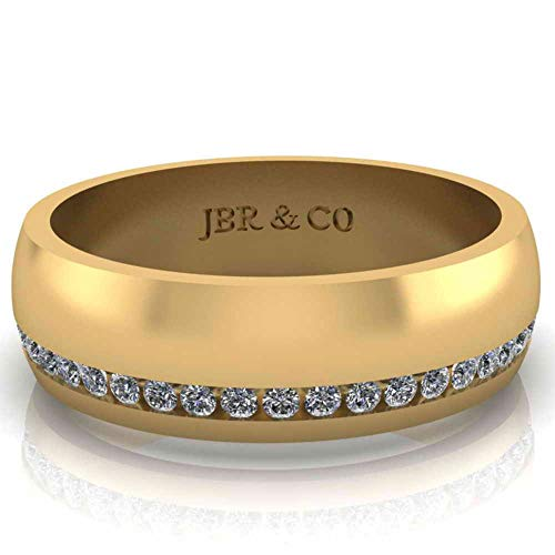 Jbr Channel Design - Banda de plata de ley para hombre, alta pulido, regalo para hombres