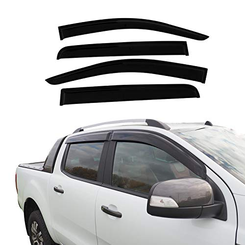 JHCHAN 4 deflectores de viento para ventana para Ford Ranger Wildtrak T6 T7 T8 2012-2020...
