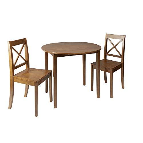 Silverwood Dining Set, Medium Brown