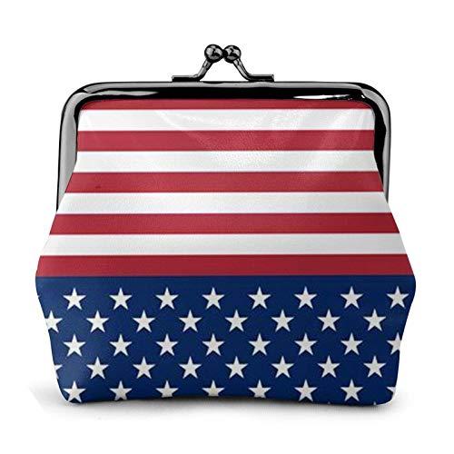 Portafoglio con portamonete a strisce con bandiera americana Bule -Lo piccolo portamonete in pelle regalo per donna