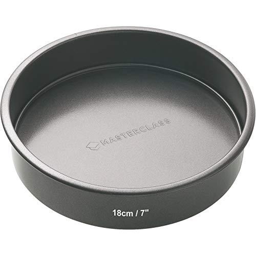 MasterClass Non-Stick Sartén Sandwich Base Suelta Antiadherente de 18 cm, Acero, Negro