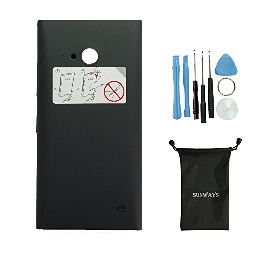 Sunways Housing Black Back Cove Battery Cover Door Replacement for Nokia Lumia 730 735 with Device Opening Tools