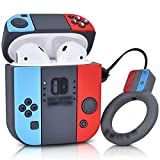 AIRSPO Airpods Case Cover Cute Cartoon Character Silicone Airpods Case Compatible with Airpods 1&2 Charging Case