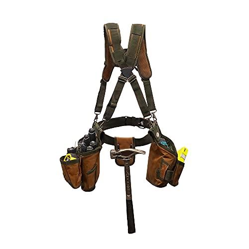 Bucket Boss - AirLift Tool Belt with Suspenders, Tool Belts - Original Series (50100) , Brown , 52 Inch