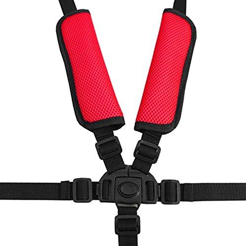 Cinghie seggiolone, seggiolone universale Cinture/cinghie di sicurezza a 5 punti/Imbracatura/Sostituzione per seggiolone in legno Passeggino con spallacci e pad di protezione