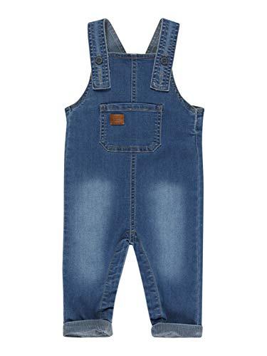 NAME IT NBMBARRY DNMATUMLES 2487 Overall Pantalones de Peto, Medium Blue Denim, 74 para Niños