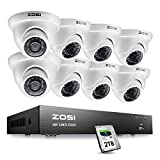 ZOSI 8CH 4K Ultra HD Security Cameras System Outdoor with 2TB