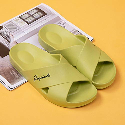 XZDNYDHGX Unisex Garden Clogs Shoes Slippers Sandals,Men Home Slippers Indoor Bathroom Slippers Sandals,Unisex Men's and Women's Non-slip Flip Flops Flat Shoes green UK 5-5.5