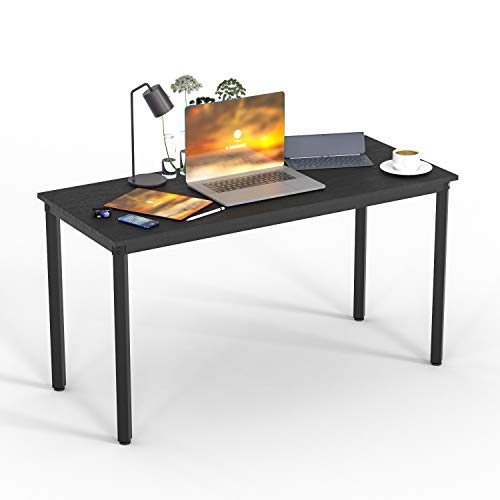 """Computer Desk Office Desk Computer Table Sturdy Desk Writing Desk Workstation,Portable Modern Industrial Simple Style Computer Desk with Metal Legs for tudents PC Laptop Home Office (39.37"""", Black)"""