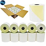 (50 Rolls) 3 x 95 feet Carbonless White/Canary, 50 Rolls Per Carton - Two ply carbonless rolls, Kitchen Printer Paper BuyRegisterRolls