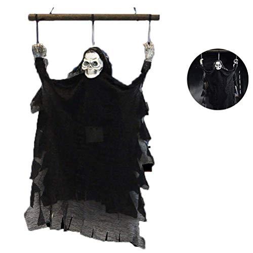 XHH Accesorios de Esqueleto Fantasma Colgante de Halloween Decoracin de Esqueleto Thriller Flash Grito Adorno para decoracin de Festivales Al Aire Libre Interior (Fiesta de Vacaciones)