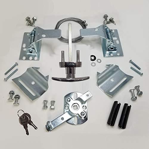 RI-KEY Security - Universal Garage Door Lock Kit with Spring Latch and Keyed Handle