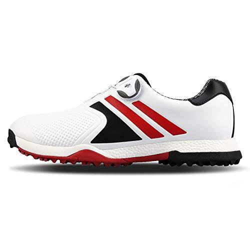 Men's Golf Shoes, Cricket Shoes Men's Rubber Non-Slip Spikes, Herren Golfschuhe, Cricket Schuhe Herren Hockeyschuhe, Golfschuhe,Weiß,39