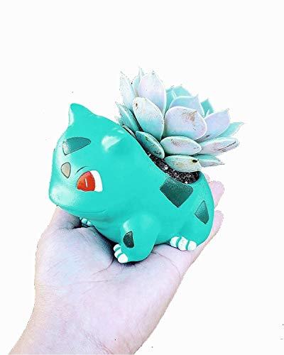 3.5'' Bulbasaur Mini Planter Pot - Great for Plants, Succulents, Echeveria, Jade Plant   Small Size 8.8cm Tall Flowerpot