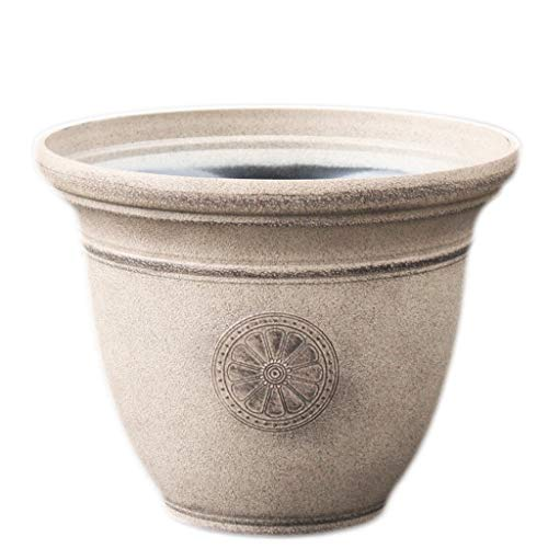 LHY- Flower Pot Imitatie Stone Flower Pot uitstekende Oude Frosted Pot driedimensionaal patroon Carving Flower Pot Prachtig (Color : A, Size : Small)