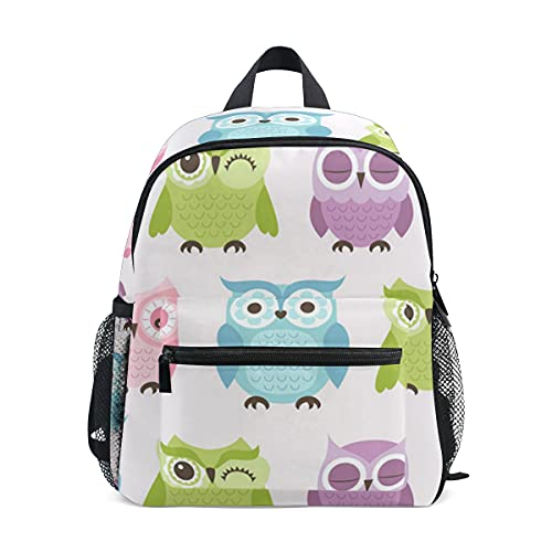 Mini mochila escolar 1 bolsa de colegio para niños niñas lindo colorido búhos para niños