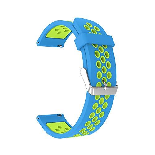 okkpbg Correa de silicona para hombre para Samsung Galaxy Watch S3 Frontier/Classic de 22 mm, correa de repuesto para reloj Samsung Galaxy Watch de 46 mm, informal y hermosa