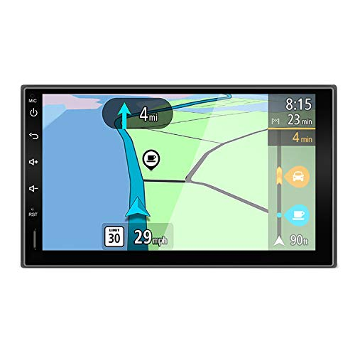 YUNTX Android 10 Doppel Din Autoradio mit navi - GPS 2 Din - Rückfahrkamera einbeziehen - 7 Zoll - Soutien DAB+ | Commande au Volant | 4G | WiFi | Bluetooth | Mirrorlink | USB | SD | Carplay