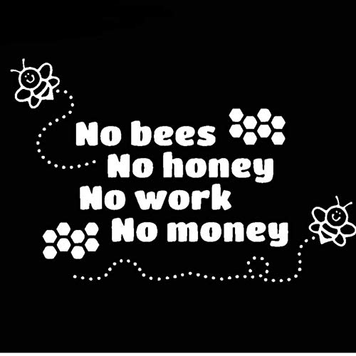 MUXIAND Auto Decor, Bijenteelt honing 18x12cm PVC DIY Motorfiets Auto Sticker Art Accessoire Creatieve Game Stijl Helm Decal Aangepaste Verjaardag Gift 5 Stks