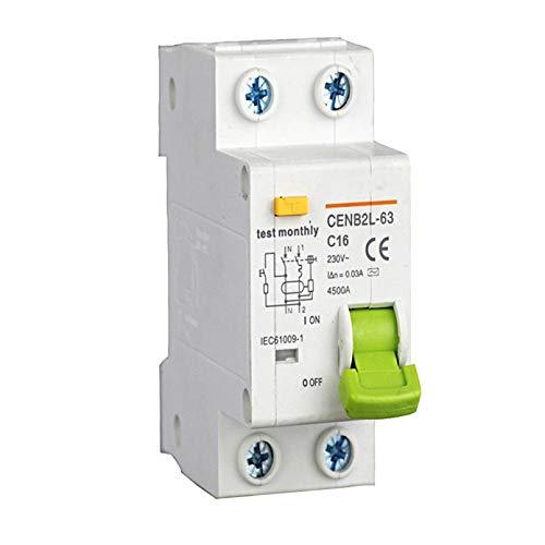 LUOXUEFEI Disyuntor Corriente Residual Disyuntor Diferencial Diferencial 1P N 230V 16A 25A...