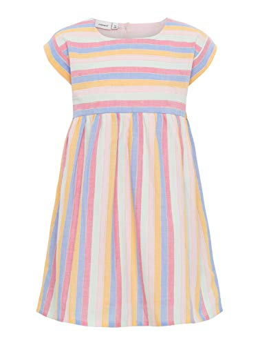 Name It Robe sans Manches Rayures Lurex ® Robe bébé, Multicolore