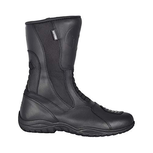 Oxford Tracker - Botas de Piel Impermeables para Moto, Color Negro, Talla 42